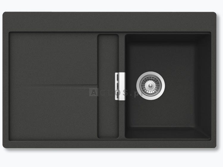 zlewozmywak granitowy schock horizont d 100 cristadur z korkiem automatycznym zlewozmywaki i. Black Bedroom Furniture Sets. Home Design Ideas
