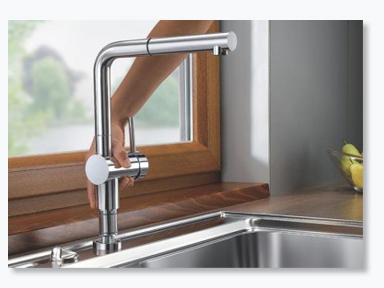 bateria kuchenna blanco linus s f chrom wyci gana wylewka. Black Bedroom Furniture Sets. Home Design Ideas